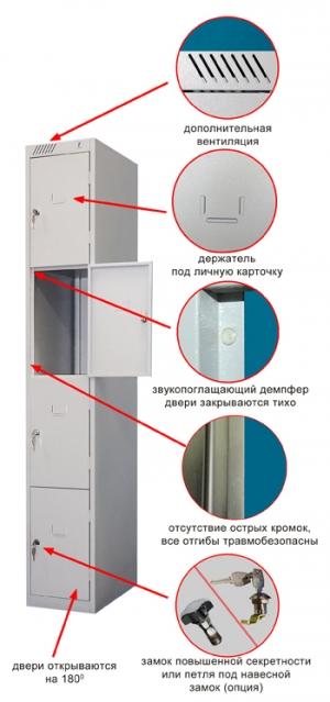 Шкаф металлический для сумок ШРС-14дс-300 купить на выгодных условиях в Нижнем Новгороде