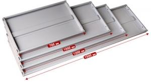 Полка 150/40 для металлического стеллажа купить на выгодных условиях в Нижнем Новгороде